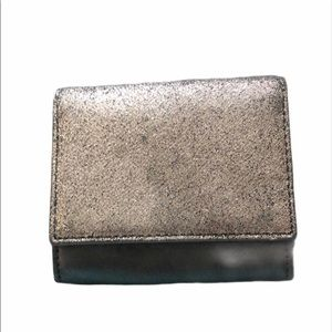 Fossil Mini Wallet Black and Silver Shimmer